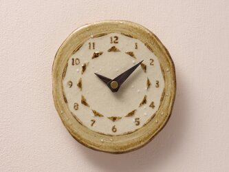 陶製掛時計 楕円型145(木製針)の画像