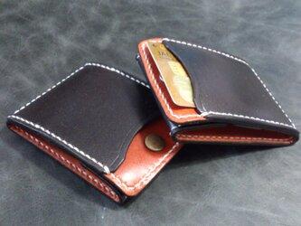 カードとコインの財布Ⅱ CC-07lw コインケース 黒/赤茶の画像