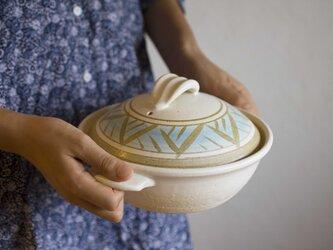 土鍋 blue arabesque1の画像