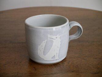 オオカミのマグカップ(角)の画像