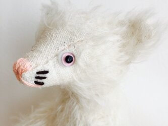 シャトン・クリーム 子猫のぬいぐるみ 白猫 しろねこ 猫ちゃん  ギフト ハロウィン ねこの画像