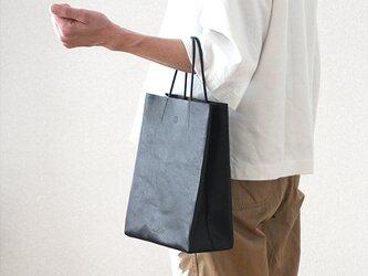 紙袋っぽい革袋 S ・ブラック[受注生産品]の画像