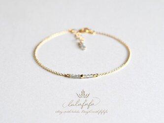 ■tiny stone bracelet■ラブラドライトの画像