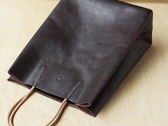 紙袋っぽい革袋 S・ブラウン[受注生産品]の画像