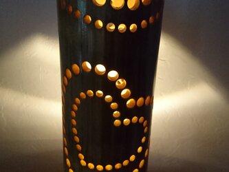 竹のランプシェードハートの画像