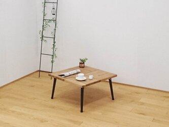 *折畳脚*小さくおしゃれなローテーブル*スクエア*の画像