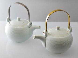 極みの茶器 土瓶 千段 メタルハンドル ステンレスの画像