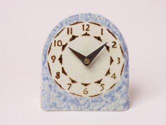 陶製置時計 青(木製針)の画像