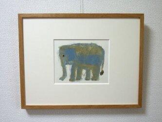 ゾウ(青)の画像