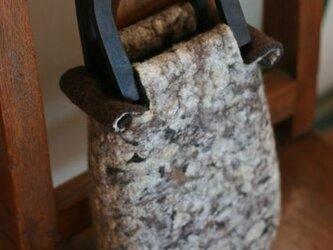 フェルトバッグ「モコモコ羊のバッグ」の画像
