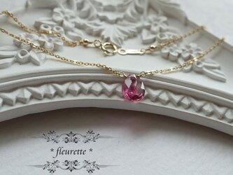 ピンクトルマリンひと粒ネックレス*K14GF*天然石の画像