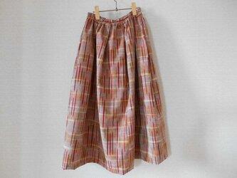 M様ご予約品★ほっこり秋色の紬のスカートの画像