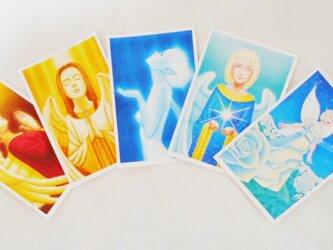 天使と妖精 マット紙ポストカード 5枚セットの画像