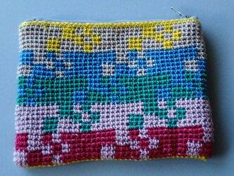 かぎ針編みのミニポーチ 1の画像