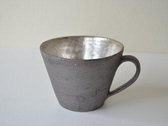 黒×シルバー マグカップの画像