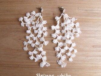 受注*Pierces,Flower strings_whiteの画像
