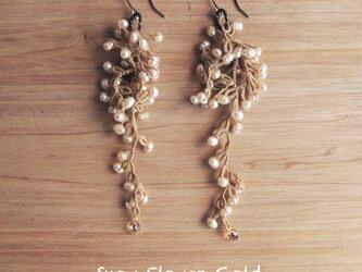 受注*Pierces, Snow Flower_goldの画像