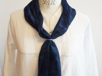 藍染 楊柳シルクスカーフの画像