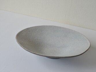 白×黒 楕円鉢の画像