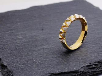 piccola triangolo ring / ピッコラ トリアンゴロ シルバー ゴールドコーティング  リングの画像