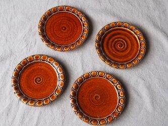 hana様 ご予約作品 アメ釉ケーキ皿4枚の画像