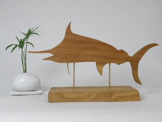 木製 マカジキ(Marlin)の置物の画像