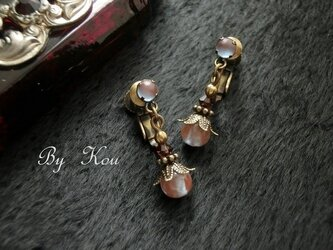 ✿TU・BO・MI✿アンティークサフィレットの耳飾り。の画像