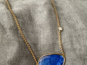 K18 Lapis lazuli ・Diamond Necklaceの画像