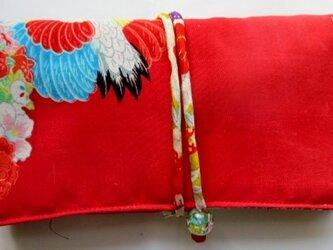 送料無料 女の子の着物で作った和風財布 2957の画像