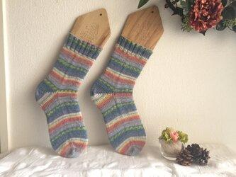 ★☆手編みの靴下(洗濯機で洗えます♪)☆★の画像