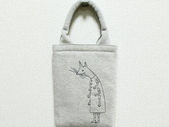 《受注制作》クーネッツの小さいバッグ/ライトグレーの画像