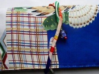 送料無料 お宮参り着で作った和風財布・ポーチ 2964の画像