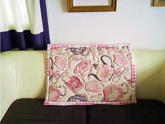 ふわふわキルトラグ/teapot柄(pink)の画像