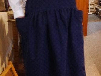 市松模様大きなポケットのノースリーブの画像