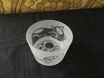 ガラスの小鉢 おひるね猫の画像