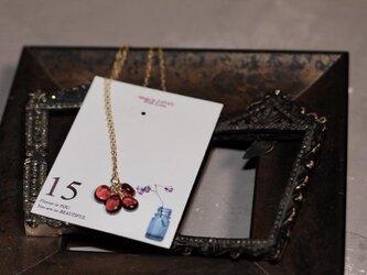 【1月誕生石】【ガーネット】【14kgf】PetalペタルGarnetモザンビークガーネットネックレスの画像