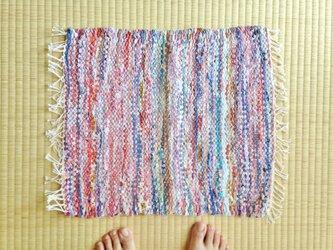 裂き織りマットFの画像