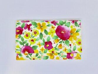 懐紙、通帳いれ Flower flower pinkの画像