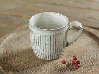 マグカップ(白/鎬)の画像