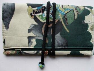 送料無料 男の子のお宮参り着で作った和風財布・ポーチ2969の画像