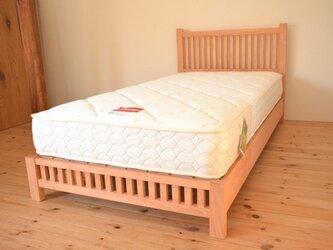 ※受注製作※風が流れる天然木のベッド(通気性抜群!)サイズオーダー可!の画像
