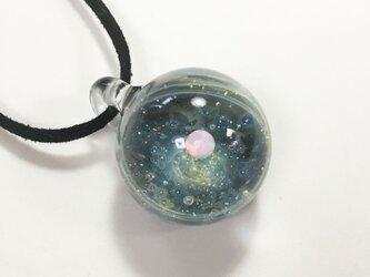 瞬く 無数の星たち。ver3 ホワイトオパール入り ガラス ペンダント 宇宙の画像