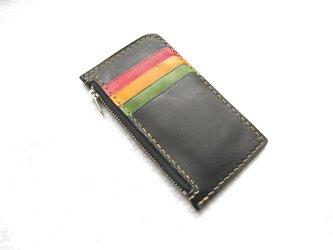 [受注生産]カードケース 5枚分 黒色の画像