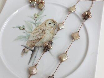 ゴールデンパール ネックレスの画像