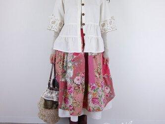 [予約販売] サークルレーススカラップティアードスカートの画像