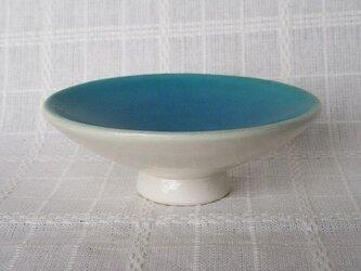 爽やかトルコブルーのプチ皿の画像