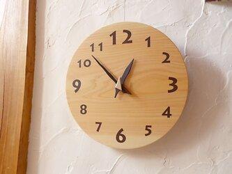 ヒノキの時計 30センチ 088s 文字盤茶色の画像