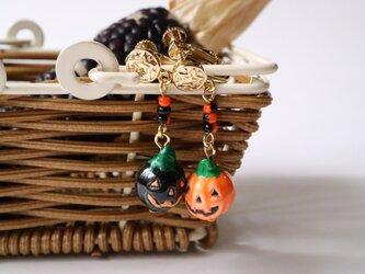 おばけかぼちゃのイヤリングの画像