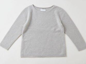【再入荷】enrica cashmere&wool knit / mochaの画像