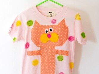 tonton crayon cat pink_ size 80-110の画像